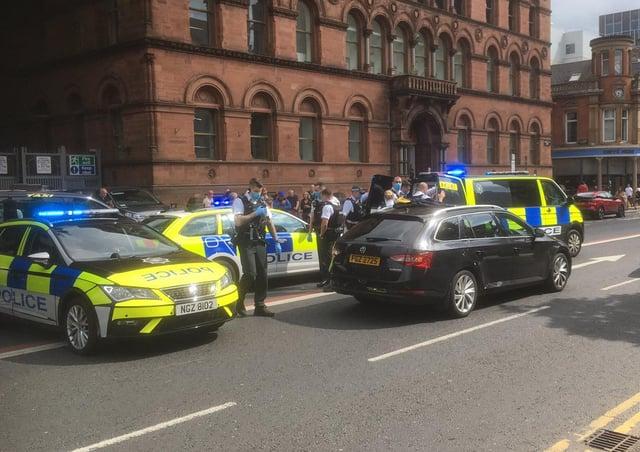 Arrest of male in Belfast city centre on July 9