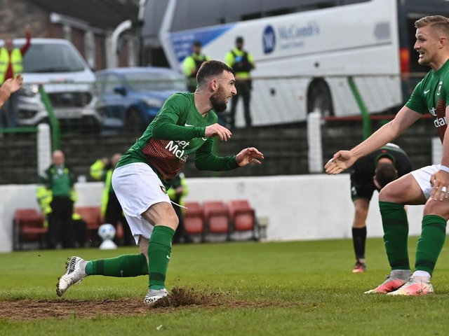 Jamie McDonagh levelled things up for the Glens