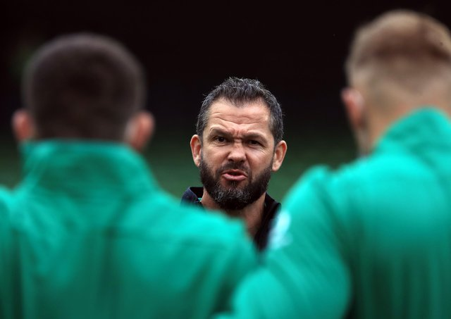 Ireland coach Andy Farrell addresses his team.