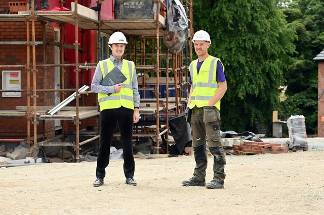 Jim Burke, Director of Sales and Acquisitions, Hagan Homes and Paul McAllister from MCA Building and Joinery