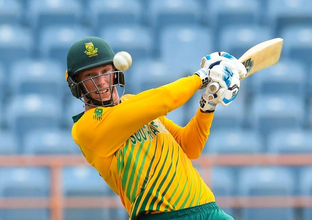 Rassie van der Dussen of South Africa. (Photo by RANDY BROOKS/AFP via Getty Images)
