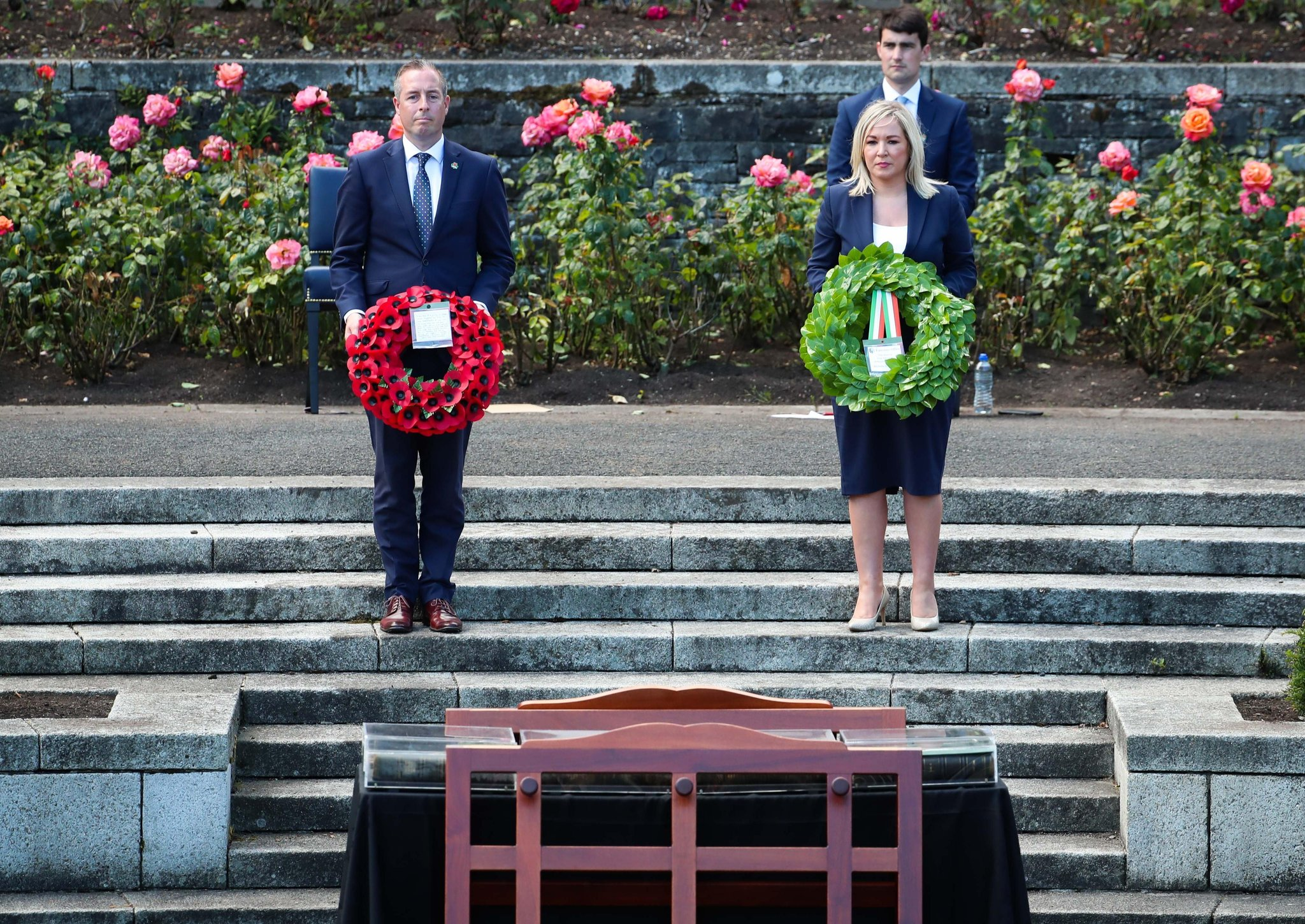 O'Neill lays green wreath for Somme fallen saying: 'I hope this shows I respect all traditions'