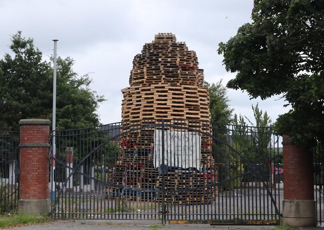 The Tiger's Bay bonfire in North Belfast. Bonfires are not going away but everey so often there are events which should worry and embarrass unionists
