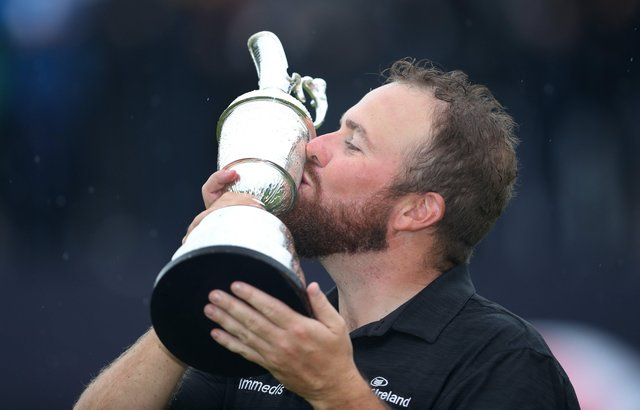 Shane Lowry celebrates his Open triumph in 2019. Pic by PA.