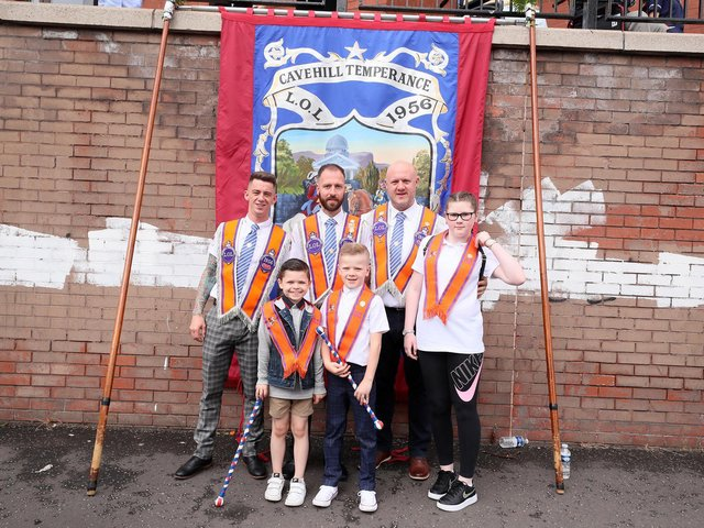 Orange Order parades take place across Northern Ireland to make the 12th July. Parades this year are scaled down due to COVID-19 restrictions.