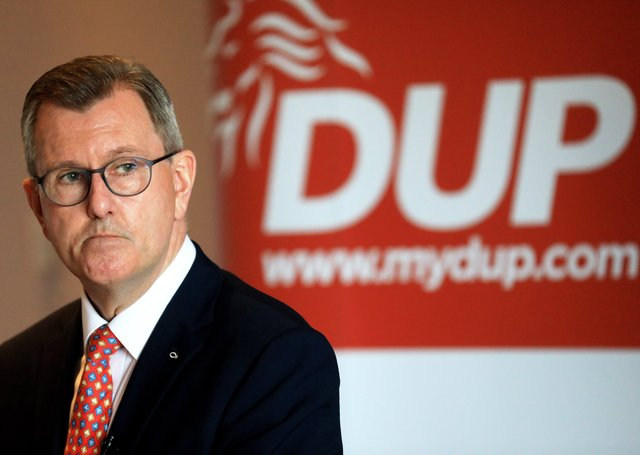 The new leader of the DUP Sir Jeffrey Donaldson MP