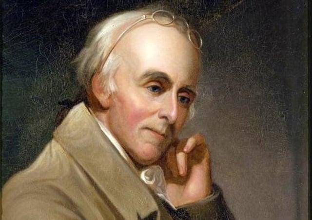 John Dunlap's Friend Benjamin Rush Painted by Charles Willson Peale in 1818