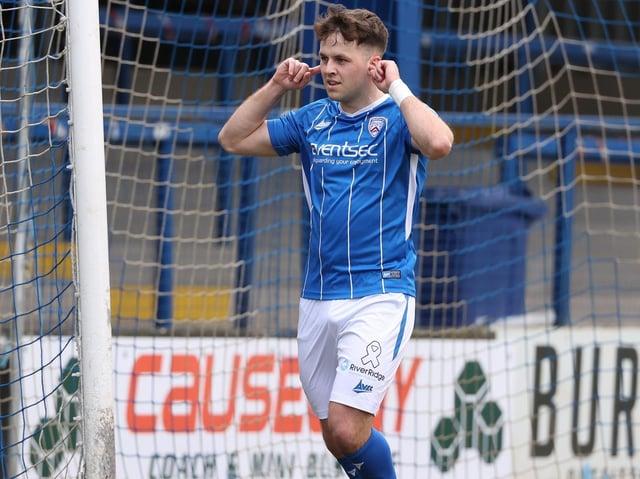 Coleraine midfielder Ben Doherty
