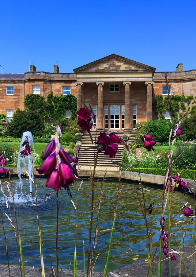 Hillsborough Castle - the South Terrace, looking north.