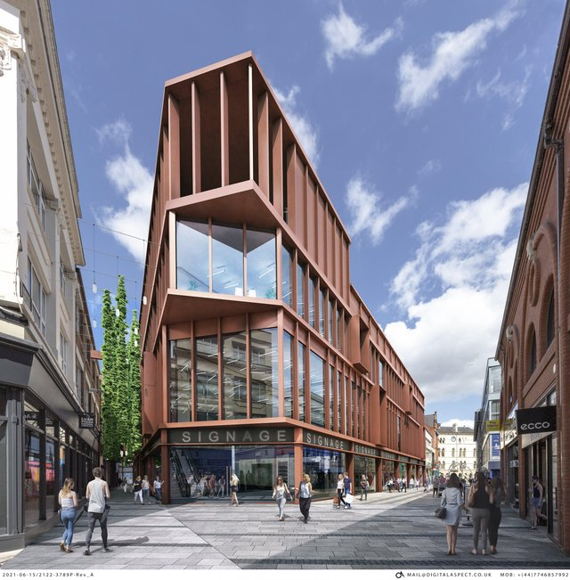 Redevelopment plans at former BHS store