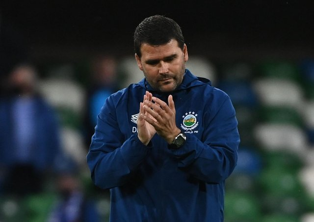 Linfield manager David Healy following Tuesday's Champions League exit. Pic by Pacemaker.