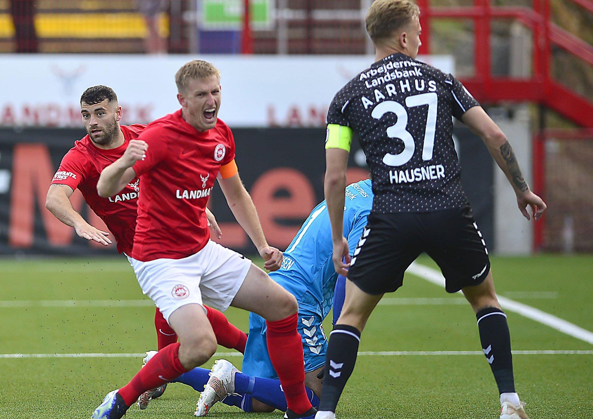 Larne's Danish delight to hold upper hand over Aarhus