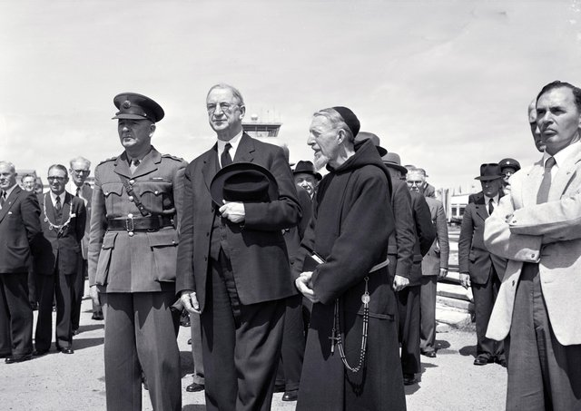 Eamon De Valera at Shannon Airport in the early 1960s