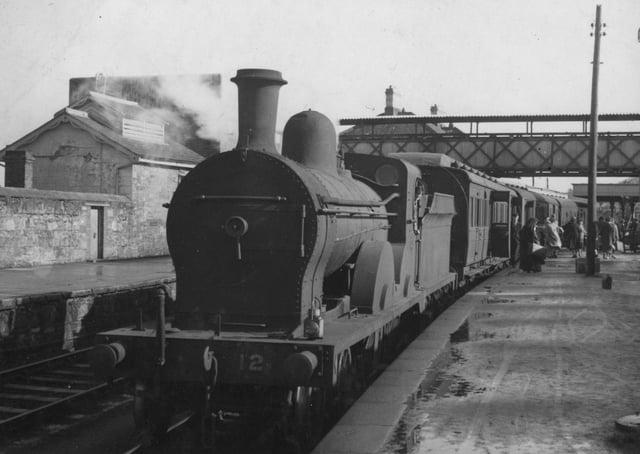 GNR Engine No 12 at Omagh Station on 7th September 1957