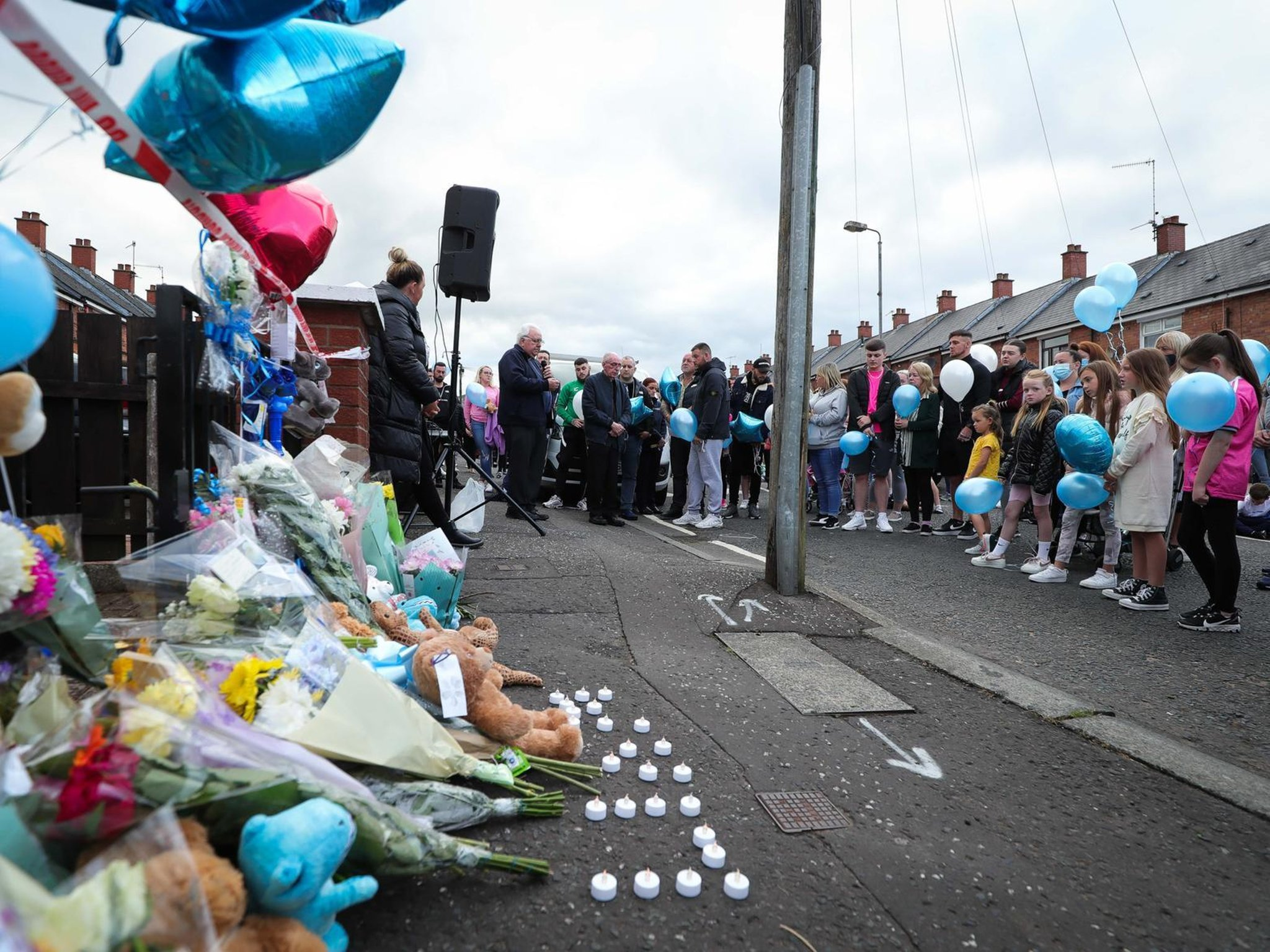 IN PICTURES: Tearful and heart-breaking vigil held by father of eight week-old baby Liam O'Keefe