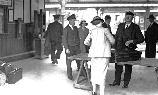 Customs Post at Strabane Railway Station. Photo C P Friel Collection