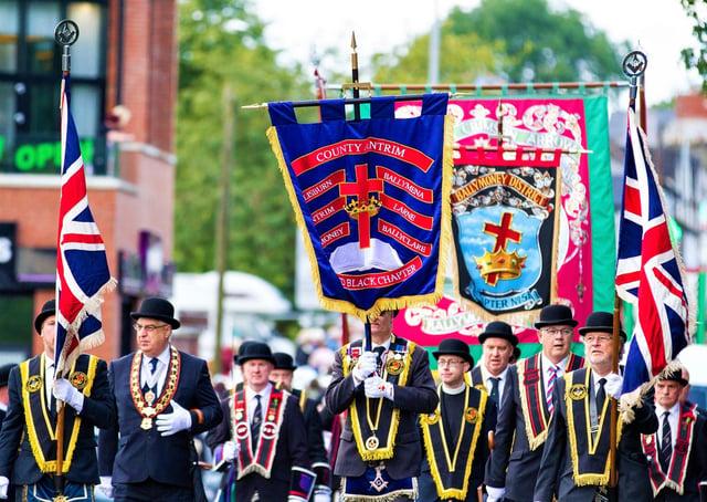 Brethren on parade during a previous Last Saturday