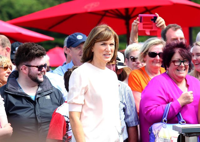 Fiona Bruce and her team of experts roll into Castle Ward outside Strangford in Co Down, Northern Ireland to film the BBC's Antiques Roadshow. Picture By: Pacemaker Press