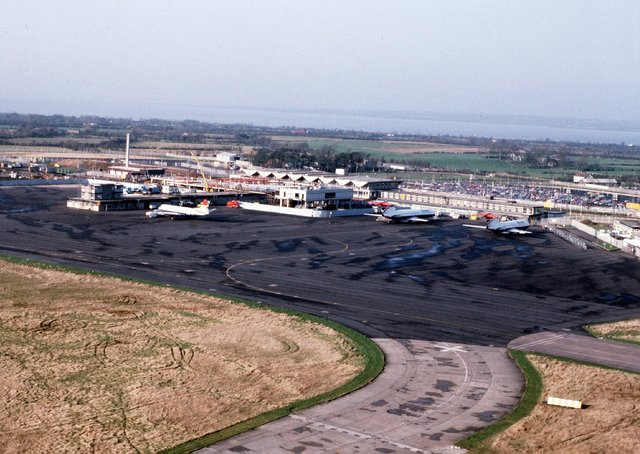 Aerial Picture of Aldergrove Airport from January 1981. Picture: Pacemaker Press