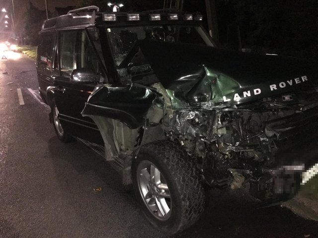 Freddy Lovejoy's Land Rover was wrecked when he was targeted by crash for cash scammers